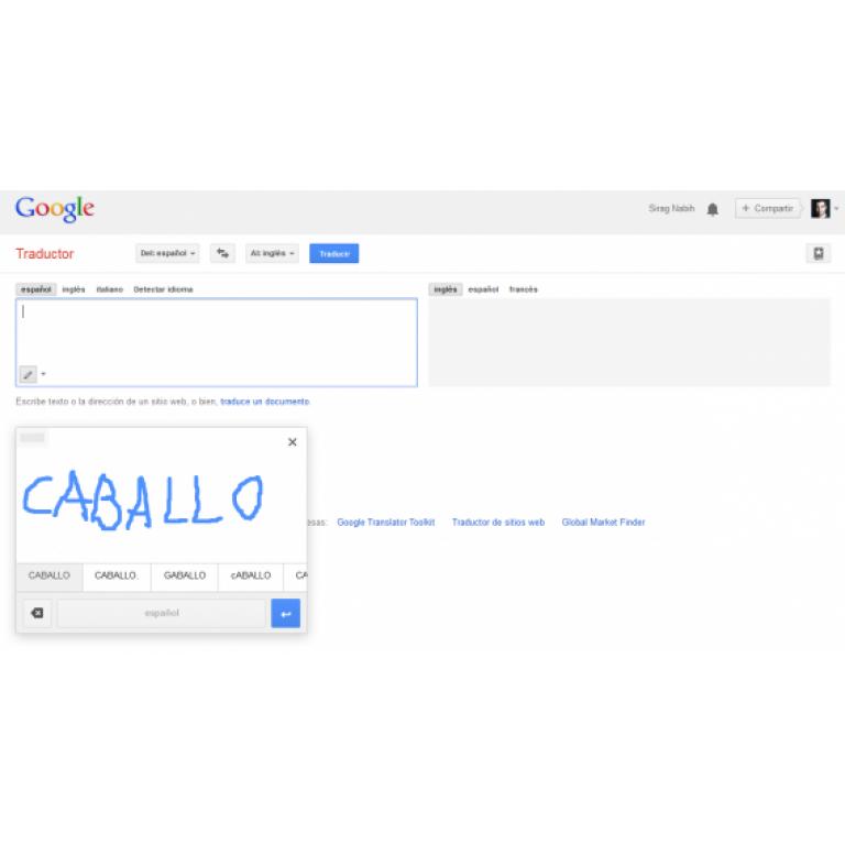 Traductor de Google para web ya cuenta con soporte para escritura a mano